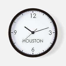 HOUSTON World Clock Wall Clock