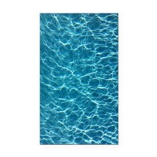 Cool Pool Water Rectangle Car Magnet