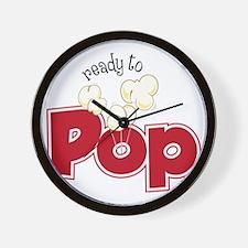 Ready To Pop Wall Clock