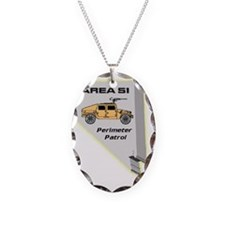 Area 51 Perimeter Patrol Necklace Oval Charm