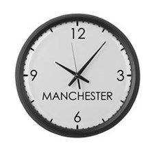 MANCHESTER World Clock Large Wall Clock