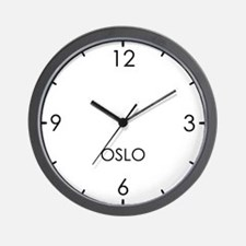 OSLO World Clock Wall Clock