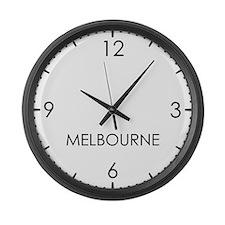 MELBOURNE World Clock Large Wall Clock