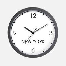 NEW YORK World Clock Wall Clock