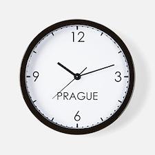 PRAGUE World Clock Wall Clock