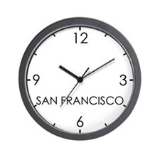 SAN FRANCISCO World Clock Wall Clock