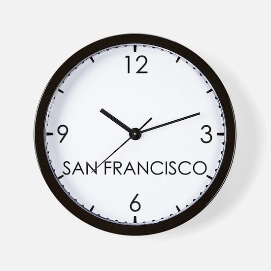 SAN FRANCISCO World Clock Wall Clock