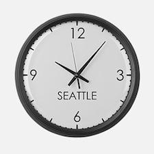 SEATTLE World Clock Large Wall Clock