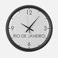 RIO DE JANEIRO World Clock Large Wall Clock