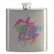 80s Splatter Flask