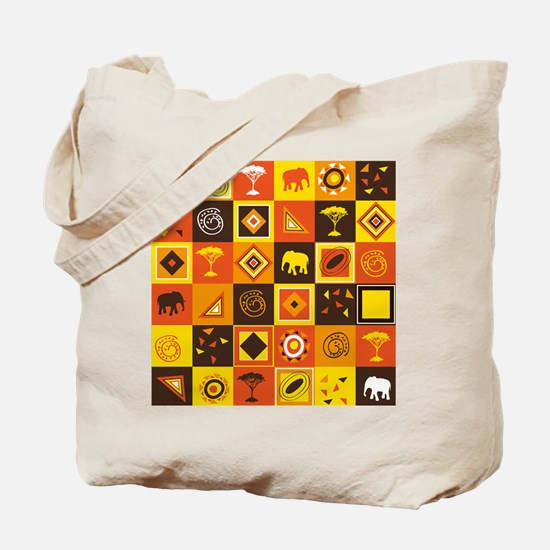 African Pattern Tote Bag