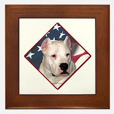 Dogo Flag 2 Framed Tile