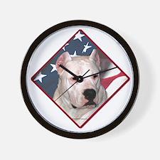 Dogo Flag 2 Wall Clock