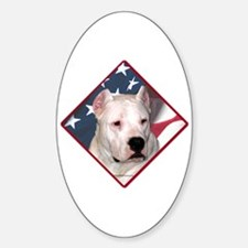 Dogo Flag 2 Oval Decal