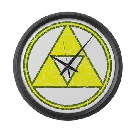 Aged Triangle Shirt white Large Wall Clock