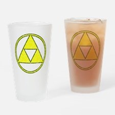 Aged Triangle Shirt white Drinking Glass