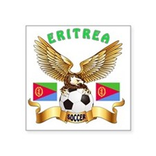 "Eritrea Football Designs Square Sticker 3"" x 3"""