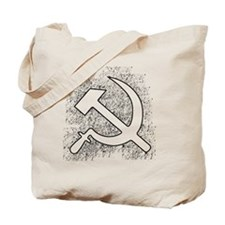Hammer and Sickle Black Splatter Black Ou Tote Bag