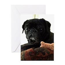 Onyx the Pug Greeting Card