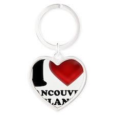 I Heart Vancouver Island Heart Keychain