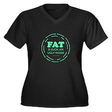 I'm Not Fat Women's Plus Size V-Neck Dark T-Shirt