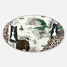 Gatsby in Paris Thin Sticker (Oval)
