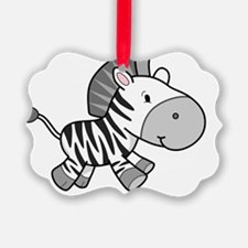 Adorable Zebra Ornament