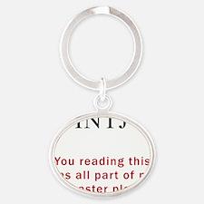 INTJ Plan Oval Keychain