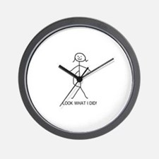 Look what I did pregnancy Wall Clock