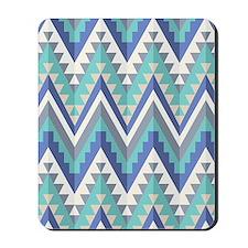Blue Native Pattern Mousepad