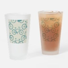 Cute Bicycles Drinking Glass