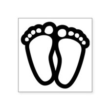 "Precious Feet Square Sticker 3"" x 3"""