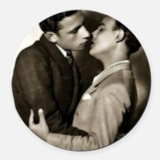 Valentine Men 1 Round Car Magnet