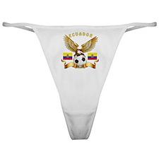 Ecuador Football Designs Classic Thong