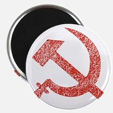 Hammer and Sickle Red Splatter Magnet