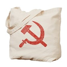 Hammer and Sickle Red Splatter Tote Bag