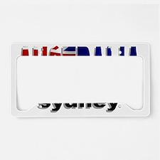 Australia Sydney License Plate Holder