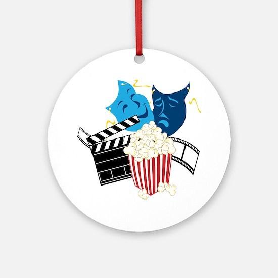Movie Lover Round Ornament