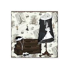 """Gatsby In Paris Square Square Sticker 3"""" x 3"""""""