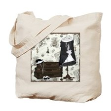 Gatsby In Paris Square Tote Bag