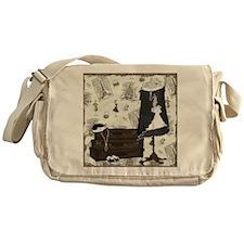 Gatsby In Paris Square Messenger Bag