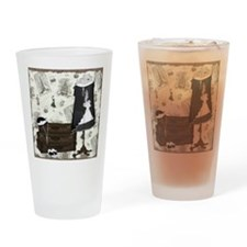 Gatsby In Paris Square Drinking Glass
