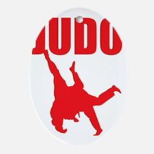 Judo Oval Ornament