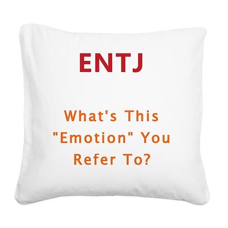 ENTJ Emotion Square Canvas Pillow