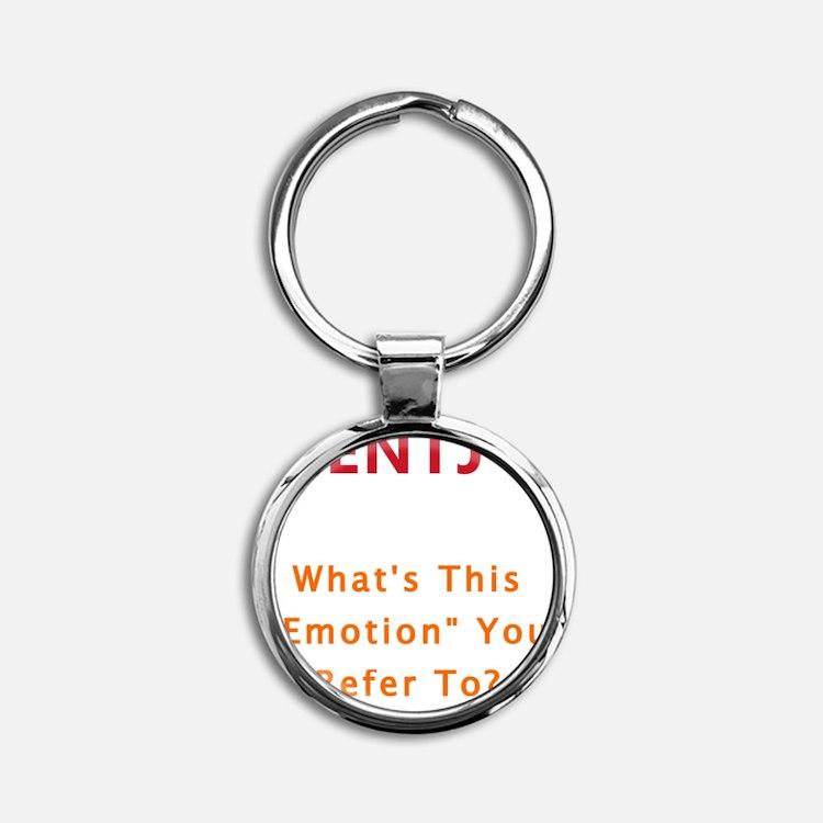 ENTJ Emotion Round Keychain
