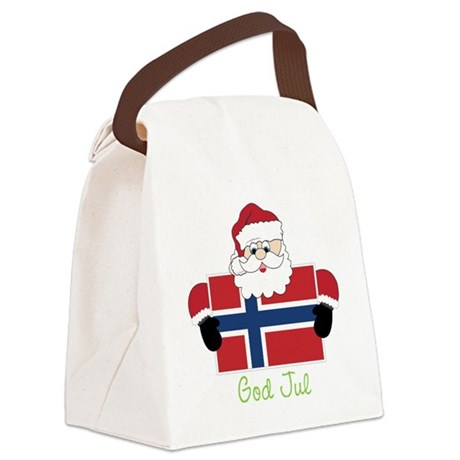 God Jul Canvas Lunch Bag