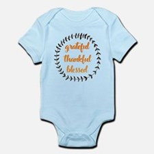 Grateful Thankful Blessed Baby Light Bodysuit
