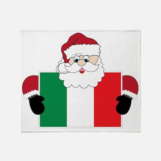 Santa In Italy Throw Blanket