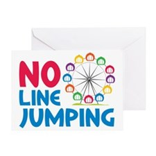 No Line Jumping Greeting Card
