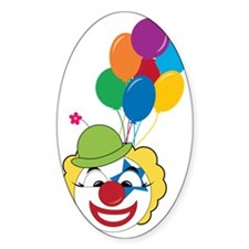 Clown With Balloons Decal
